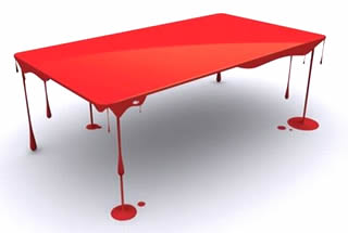 Paint drip blood table (出典:http://www.hometone.com/)